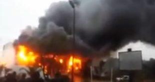 Incendie à la SAFEX d'Alger