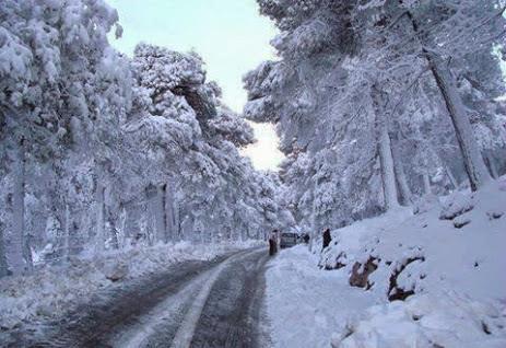 routes bloquées neige