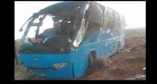 Sécurité routière Treize blessés suite au renversement d'un bus près d'El-Bayadh. 1
