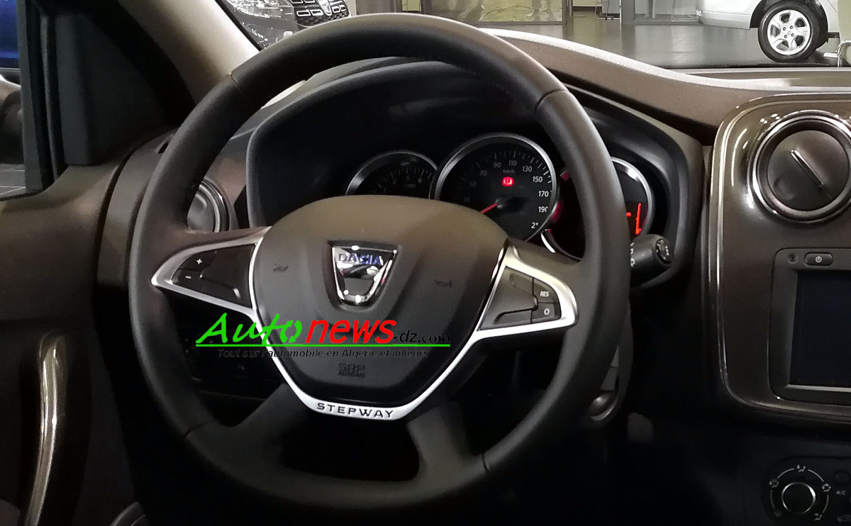 renault alg rie la dacia sandero stepway restyl e mib fait son apparition auto news dz. Black Bedroom Furniture Sets. Home Design Ideas