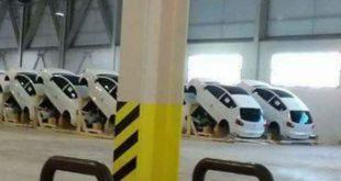 Les Seat Ibiza à l'intérieur de l'usine de Sovac Production