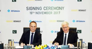 2017 - Al-Futtaim - contrat cadre pour l'assemblage et la distribution de véhicules Renault au Pakistan